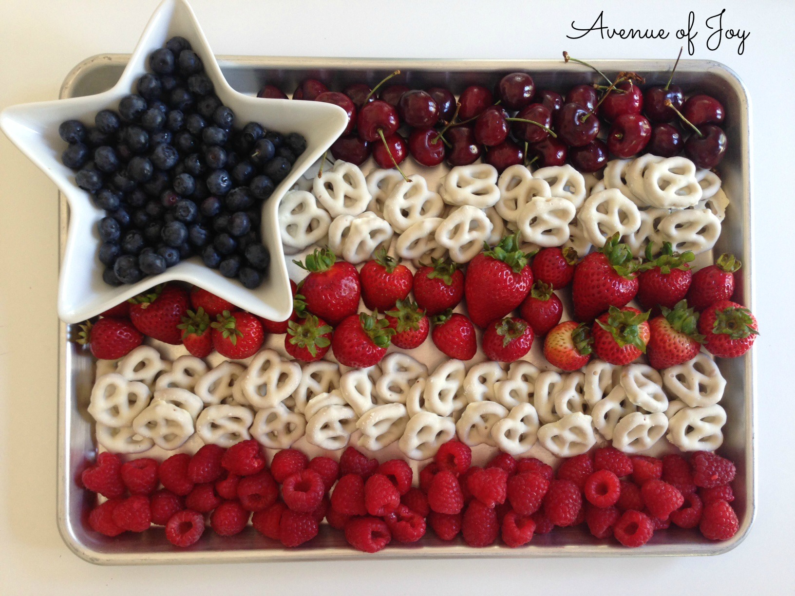 All American Fruit Flag Dessert Snack And Other 4th Of