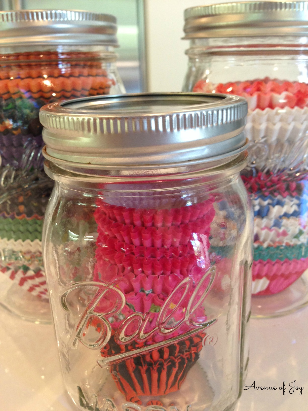 A Simple Way to Organize CupcakeMuffin Liners Avenue of Joy