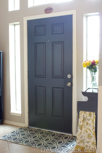 painted-black-door