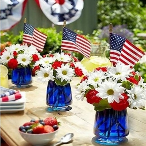 patriotic-flower-centerpieces